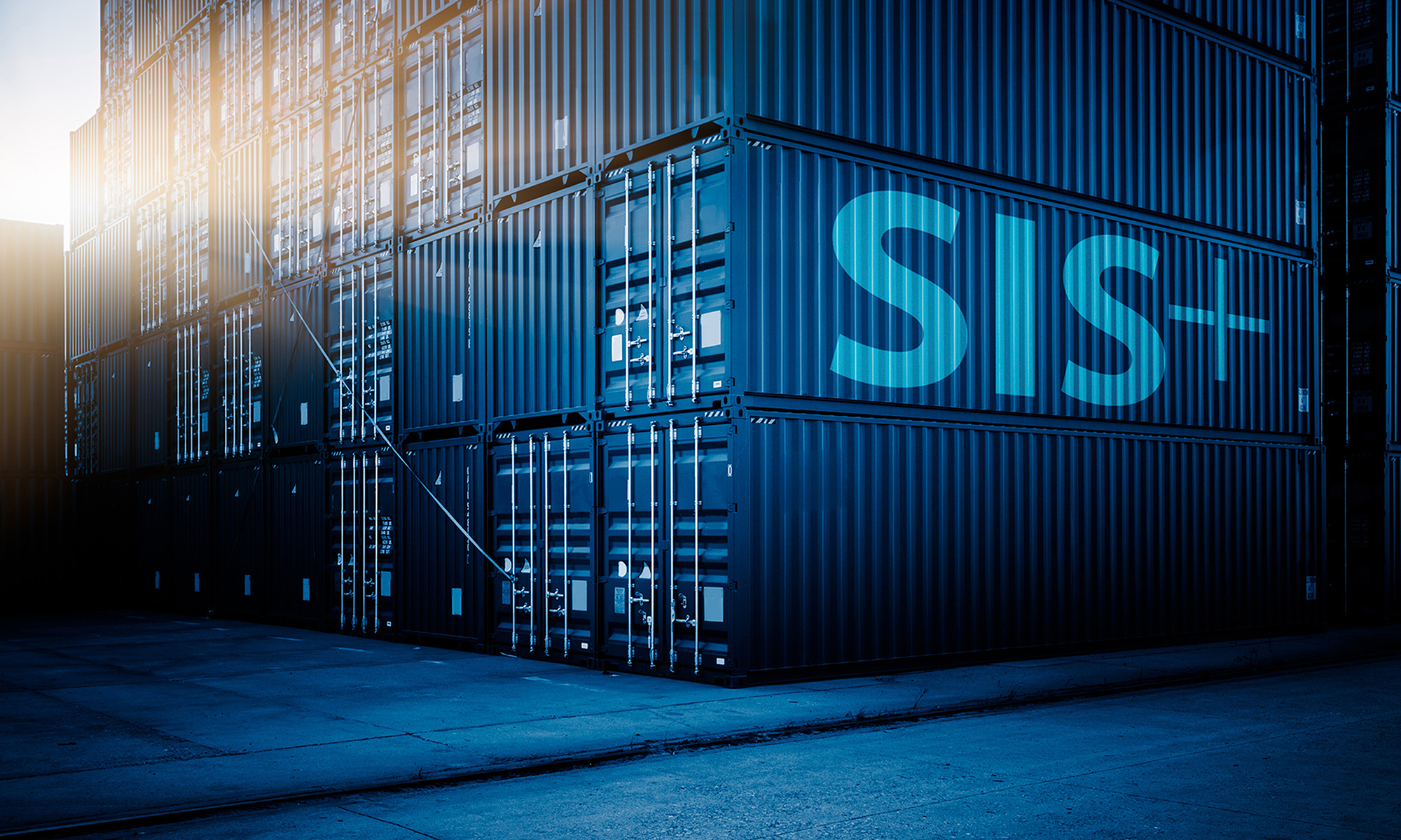 SIS-Plus, Logo auf Container Stapel